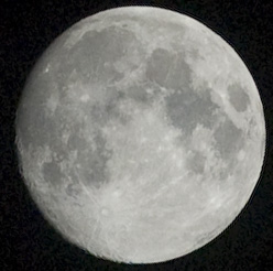 Moon, two days before full. August 29, 2012, 10 p.m. EDT.