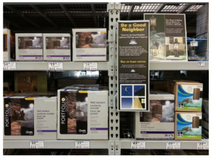 IDA-approved fixtures and informational display at Lowe's 1111, Boynton Beach, FL