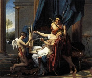 Sappho and Phaon. Jacques-Louis David, 1809. Image from Wikipedia.